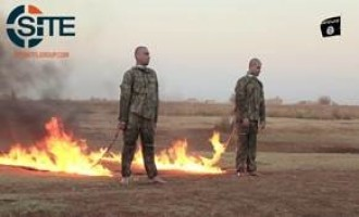 IS' Aleppo Province Releases Video of Burning to Death Two Soldiers in Turkish Army