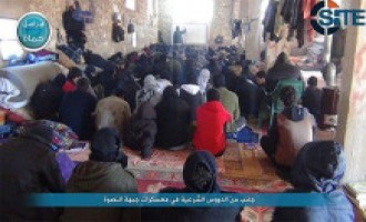 Al-Nusra Front Publishes Photos of Islamic Lesson, Group Activity in Hama