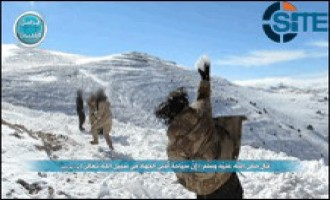 Al-Nusra Front Releases Pictures of Group Playing in Snow in Qalamoun