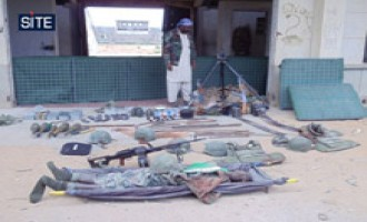 Shabaab Displays Dead Body, Spoils from Battle