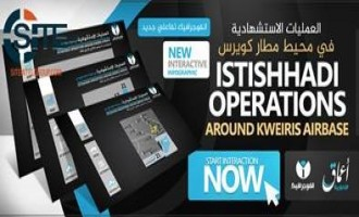 IS-Linked 'Amaq Publishes First Interactive Infographic, Displays Charts for Suicide Attacks Around Kuwayris Airbase