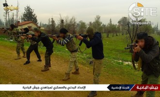 Syria-Based AQ-Aligned Groups Jaysh al-Badia, Jaysh al-Malahem Photograph Fighter Training