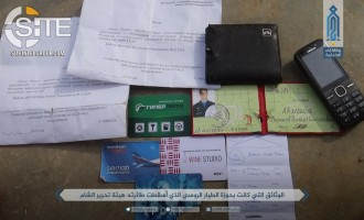 HTS Photographs Documents, ID Cards Allegedly Found on Pilot of Russian Warplane Downed in Idlib