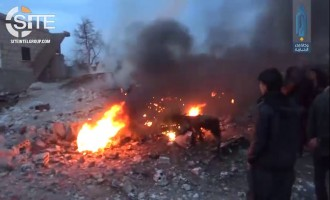 HTS Claims Shooting Down Russian Warplane Over Saraqib, Provides Footage of Hit and Wreckage