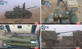 IS Photo Report Shows War Spoils from Regime, Hezbollah Forces in Homs