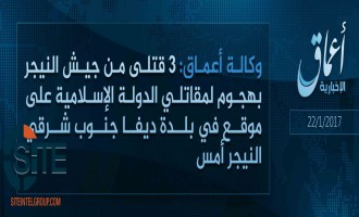 'Amaq Reports IS Fighters Killing 3 Nigerien Soldiers in Attack in Diffa
