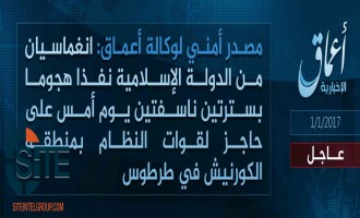IS' 'Amaq Reports Twin Suicide Bombing on Syrian Checkpoint in Tartus
