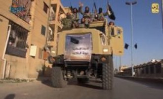 "IS Video Shows Military Parade Celebrating ""Caliphate"" in ar-Raqqah"
