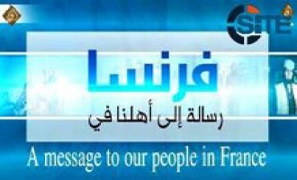 Pro-IS Jihadi Media Group Directs Compilation Video of IS Threats to French People