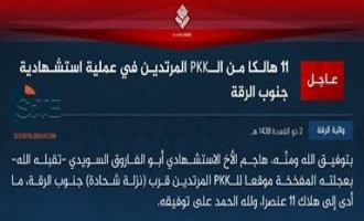 "IS Claims Suicide Bombing by Swedish Fighter on ""PKK Apostates"" South of Raqqah"