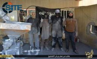 IS Publishes Photo Report on Booby-Trap Workshop in al-Fallujah