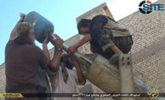 IS Photo Report on 360mm Cannon Used in Attack on Iraqi Army Barracks