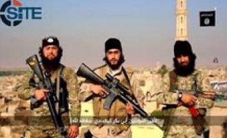 IS Fighters Celebrate IS Pledge from the Caucasus in Video