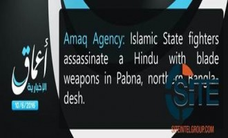 'Amaq Reports IS Fighters Killing Hindu Man in Pabna, Northeastern Bangladesh