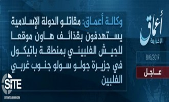 IS' 'Amaq Reports Mortar Attack on Philippine Army in Jolo, Sulu