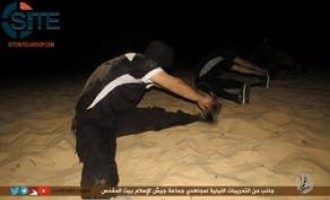 Gaza-Based Jaish al-Islam Publishes Photos of Fighters Exercising at Night