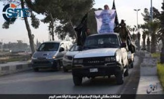 IS-Linked 'Amaq News Agency Reports Fighters in ar-Raqqah Celebrating Pledge from Boko Haram