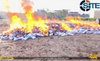 Islamic State Publishes Photos of Burning of Cigarettes in Iraq, Syria