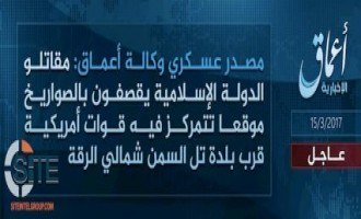IS' 'Amaq Reports Developing Attacks on U.S. Forces in Raqqah