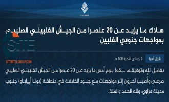 IS Claims Killing Over 20 Filipino Soldiers in Clashes in Lanao del Sur
