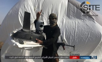 IS Posts Photos of U.S. Spy Balloon Shot Down East of Tikrit