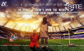 Pro-IS Group Depicts Messi as IS Captive Inside World Cup Stadium