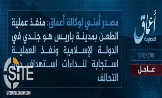 "'Amaq Reports Paris Knife Attacker an IS ""Soldier"""