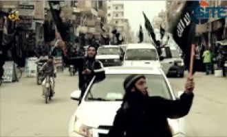 IS Video Features Fighters in Raqqah Celebrating Pledges to Group