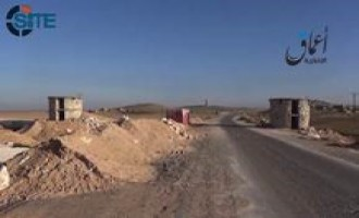 Pro-IS 'Amaq News Video Shows Emptied Kurdish Fortifications in IS-Controlled Area Near Kobani