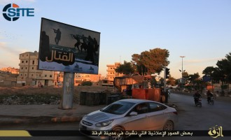 IS Publishes Photo Report on Inciting Billboards in ar-Raqqah