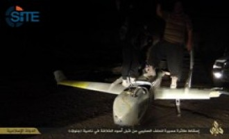 IS Claims Downing a Coalition Drone in Diyala, Fighter Poses with the Plane