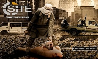 Pro-IS Media Group's Poster Threatens Christians, Depicts Beheaded Pope Francis