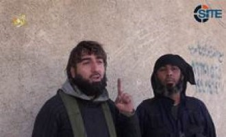 IS Interviews Fighters in City Center of Kobani in Video