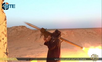 IS Publishes Photo Report on Downing Iraqi Military Helicopter in Beiji