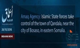 'Amaq Reports IS Fighters Seizing Town in Puntland State of Somalia