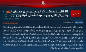 IS' West Africa Province Claims Killing 30 Nigerian and Nigerien Soldiers in Raid in Borno