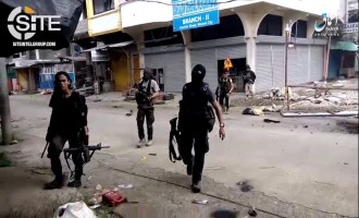 'Amaq Video Shows IS Military Activity in Marawi, Airstrike