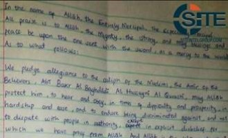 Pro-IS Accounts Distribute Purported Hand-Written IS Pledge from Mombasa Attackers