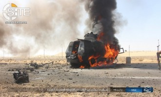 IS Publishes Photo Report on Suicide Bombing and Raid on Egyptian Security Convoy in Bir al-'Abd