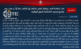 IS Claims Killing Nearly 40 Syrian Regime Forces, Capturing Checkpoints, Village, Gas Station in Homs
