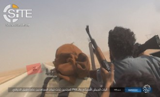 IS Publishes Photos of Ambushing Alleged American, SDF Vehicles on Hasakah-Deir al-Zour Highway